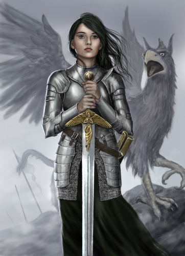 female_knight_and_griffin_by_dashinvaine-d5t0kj1.jpg