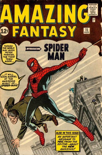 Amazing Fantasy #15 (1962) - Stan Lee & Steve Ditko - Arkham Comics 7 rue Broca 75005 Paris.jpg